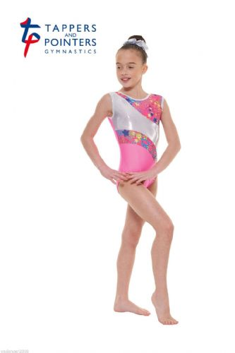 Tappers and Pointers Gymnastics Leotard PLUS Matching Hair Scrunchie Pink Gym 39